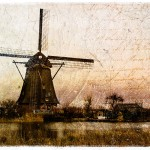 Kinderdijk Windmill, The Netherlands - Forgotten Postcard