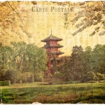 Japanese Tower, Brussels, Belgium - Forgotten Postcard