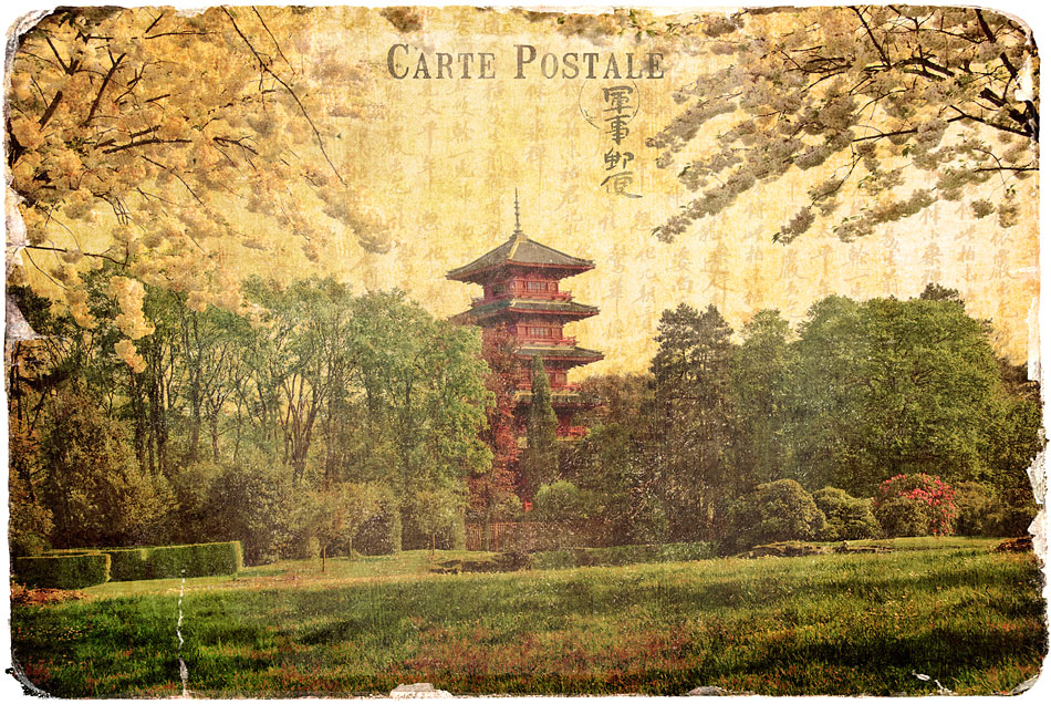 Japanese Tower, Belgium - Forgotten Postcard