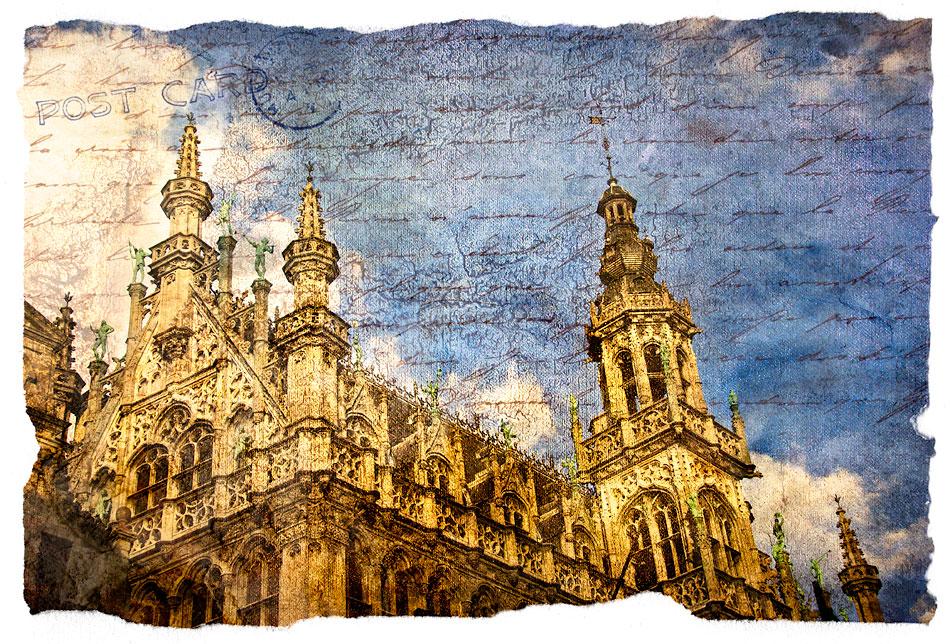 Grand Place, Belgium - Forgotten Postcard