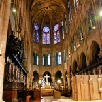 Interior of Notre Dame Cathedral, Paris