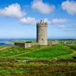 Doonagore Castle overlooks Ireland's Atlantic Coast