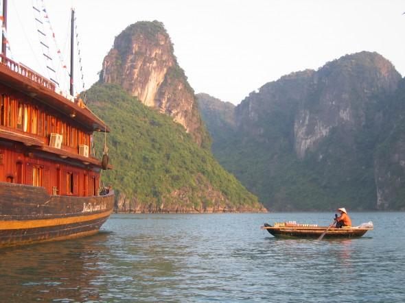 Halong Bay Vietnam - Before the Forgotten Postcard treatment