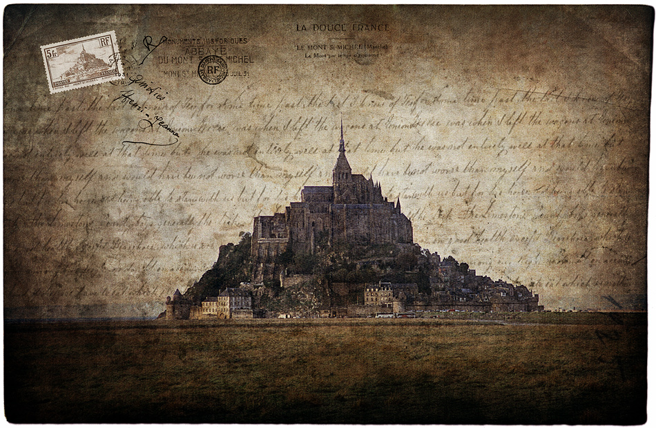 Mont Saint Michel, France - Forgotten Postcard