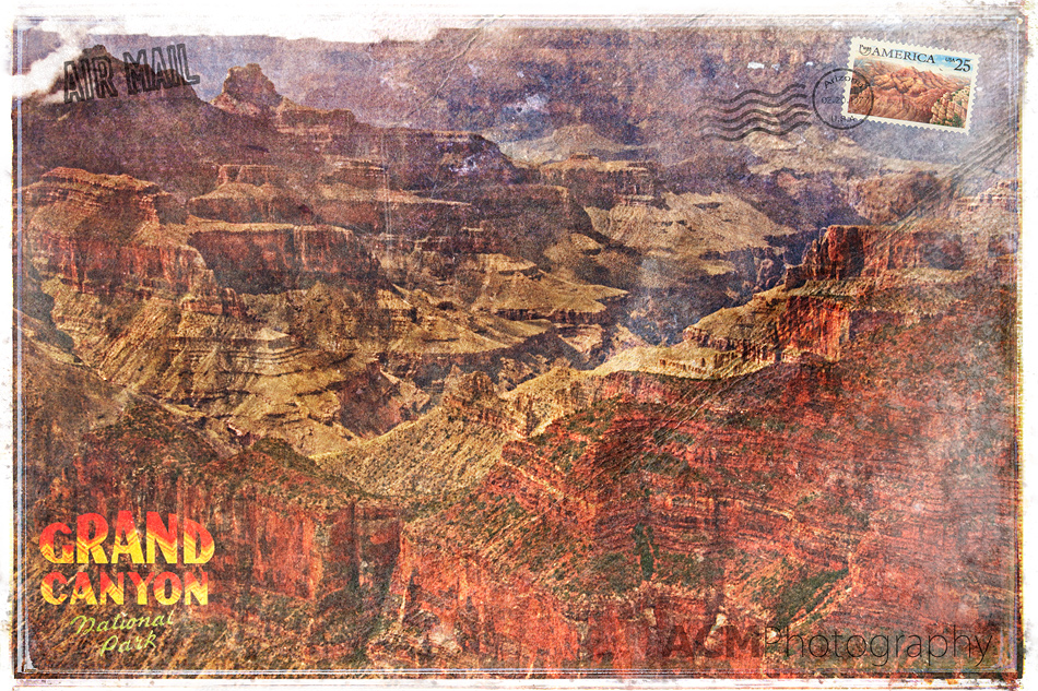 Grand Canyon Forgotten Postcard Digital Art
