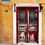Greek door, Athens, Greece