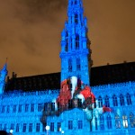 Elecrabel Nights Lightshow Grand Place, Brussels, Belgium