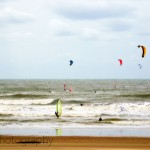 Kite surfing in Scheveningen, The Netherlands