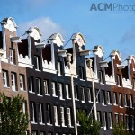 Rows of Canal Houses in Amsterdam