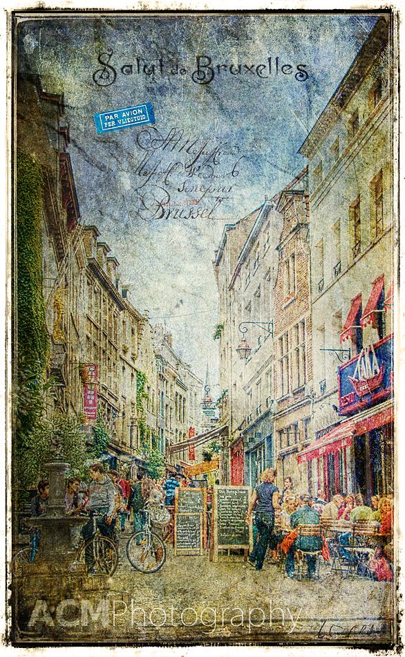 Rue de Rollebeek, Sablon, Brussels - Forgotten Postcard