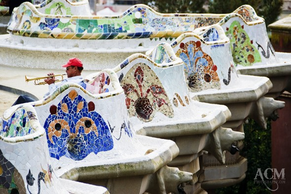 Gaudi's Wavy Bench, Barcelona Spain