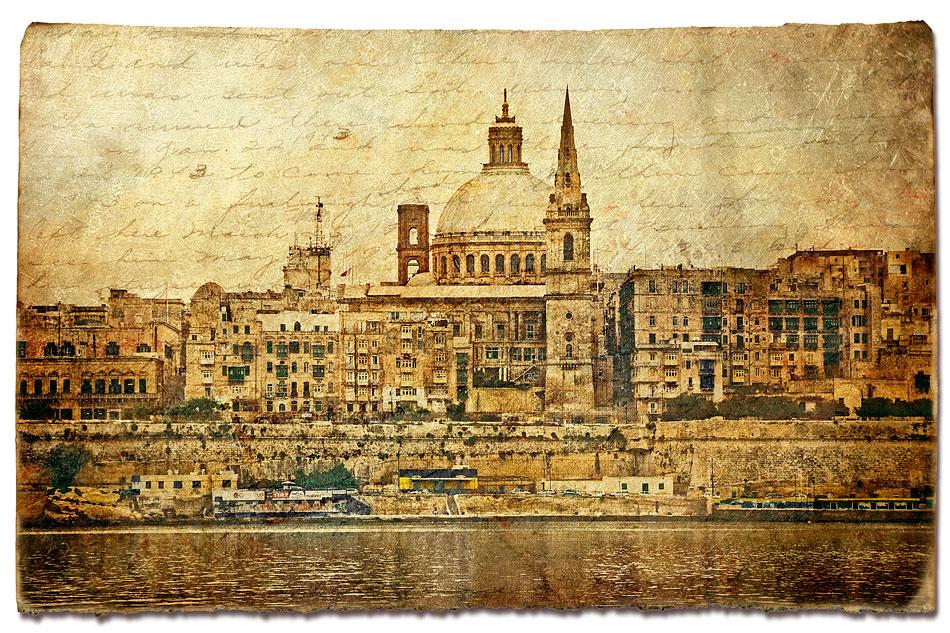 Valletta, Malta - Forgotten Postcard