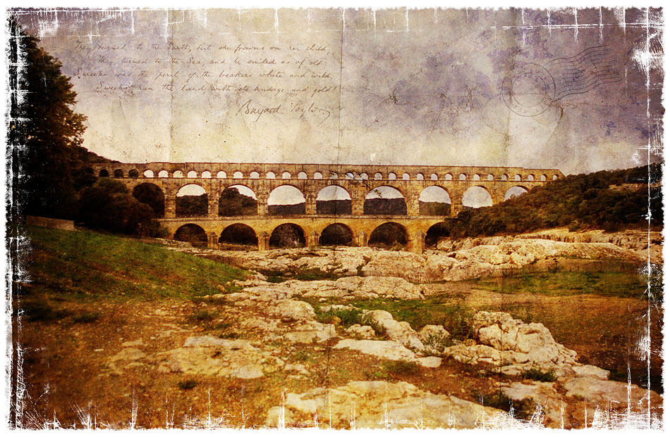 Pont-du-Gard, France - Forgotten Postcard
