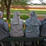 Nuns at Keukenhof Gardens