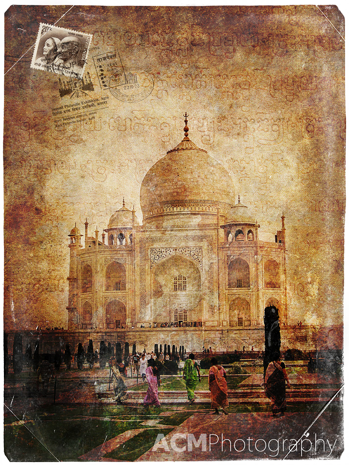 Forgotten Postcard - Taj Mahal, Agra, India
