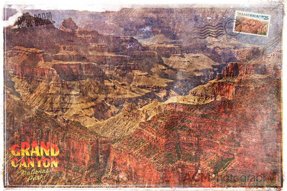 Grand Canyon Forgotten Postcard Digital Art