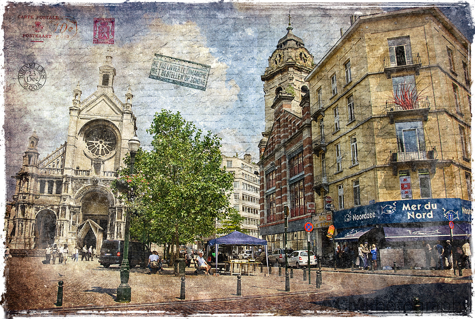 Place Sainte Catherine - Forgotten Postcard