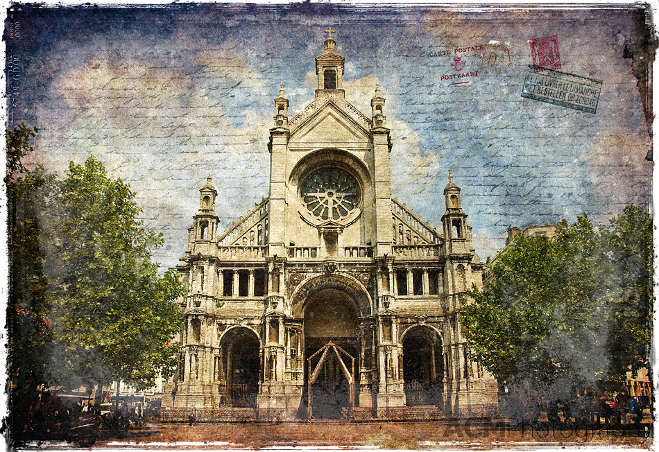 Sainte Catherine Church - Forgotten Postcard