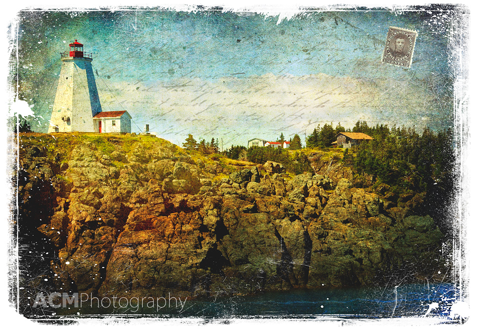 New Brunswick, Canada - Forgotten Postcard Digital Art collage