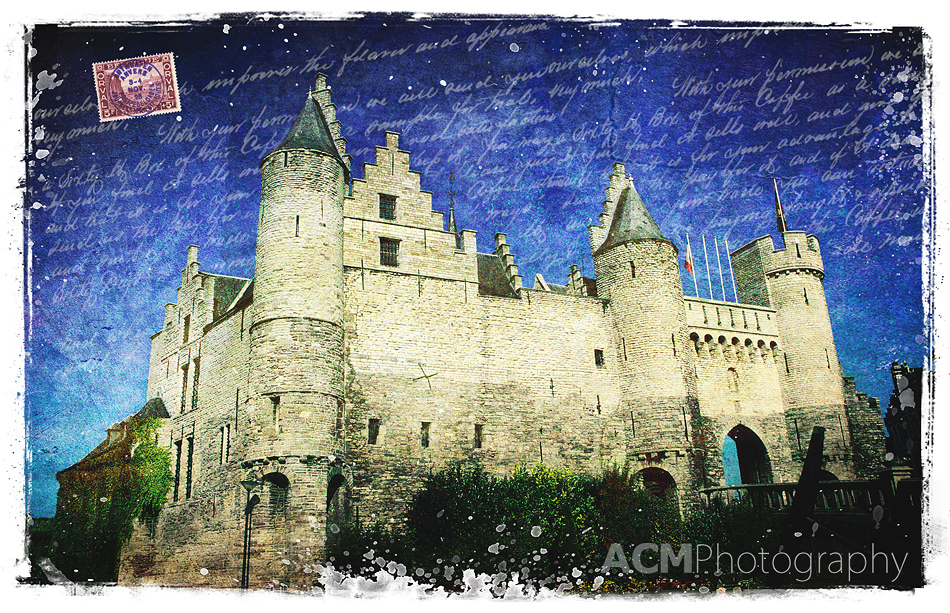 Het Steen Castle, Antwerp, Belgium - Digital Art Collage