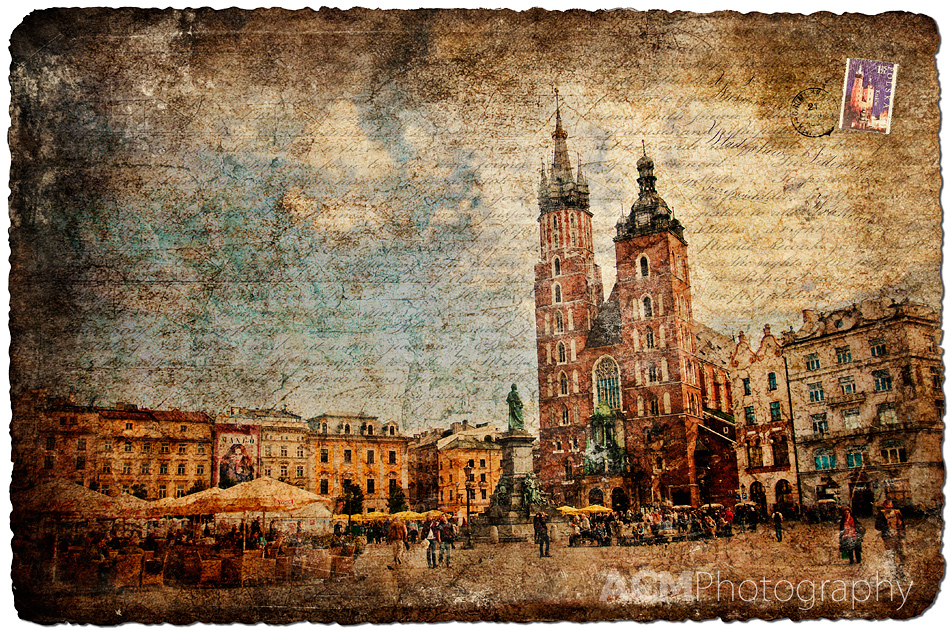 Krakow, Poland - Forgotten Postcard Photography & Digital Art