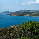 View from the Poseidon Temple at Cape Sounion, Greece
