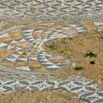 Detail of a mosaic floor, Athens, Greece