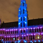 Elecrabel Nights Lightshow Grand Place, Brussels, Belgium