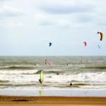 Kite surfing in Scheveningen, The Netherlands