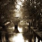 Canal Scene in Utrecht, The Netherlands
